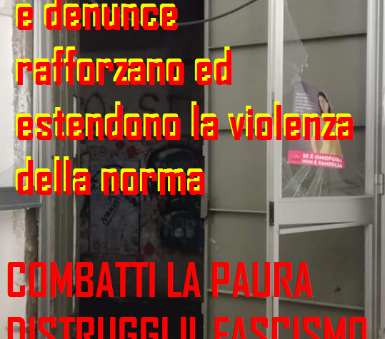 Salerno. Incursione fascista all'Arcigay